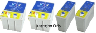 Epson T036 & T037 Compatible Ink Cartridges - 2 each