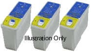 3 x Black Epson T026 Compatible Ink Cartridges for Epson Stylus Photo 830