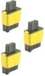 3 x Yellow Compatible with Brother LC900Y