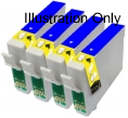 4 x Blue Epson T0549 Compatible Ink Cartridges