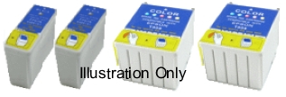 Epson T026 & T027 Compatible Ink Cartridges - 2 each for Epson Stylus Photo 820