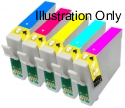 1 x 5 Colour Pack Compatible with Epson T0802/3/4/5/6