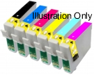 1 x Full Multipack Compatible with Epson T0807