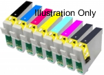 Epson T0341/2/3/4/5/6/7/8 Compatible Ink Cartridges - 1 Full Set for Epson Stylus Photo 2200