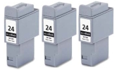 3 x Black Canon BCI-24BK (BCI-21BK) Compatible Ink Cartridges for Canon BJC-5500