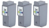 3 x Colour Canon BCI-24C (BCI-21C) Compatible Ink Cartridges for Canon BJC-5500