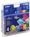 Genuine Brother LC1000VALBP Multipack Set Ink Cartridges for Brother FAX-1560