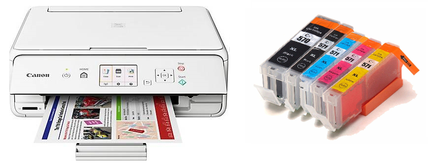 Canon Pixma TS5051  Plus 1 Full Set of XL Capacity Compatible Ink Cartridges