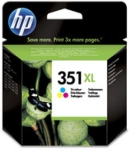 Genuine High Capacity  HP-351XL Colour Ink Cartridge (CB338EE) for HP PhotoSmart C4585