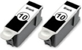 2 x Kodak 10B Compatible Ink Cartridges for Kodak ESP 3