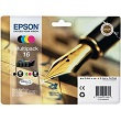 Genuine Epson T1626 Multipack Ink Cartridges (Pen) for Epson WF-2510WF