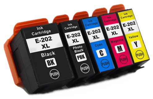 Epson 202XL Compatible Ink Cartridges - 1 Full Set Kiwi XL (T02G7) for Epson XP-6105