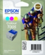 Genuine Epson T005 Tri Colour Ink Cartridge (Cyclists)
