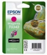 Genuine Epson T0343 Magenta Ink Cartridge (Lizard)