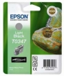Genuine Epson T0347 Light Black Ink Cartridges (Lizard)