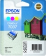 Genuine Epson T037 Tri Colour Ink Cartridge (Beach Huts) for Epson Stylus C44