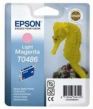 Genuine Epson T0486 Light Magetna Ink Cartridge (Seahorse) for Epson R320