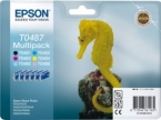 Genuine Epson T0487 Multipack Ink Cartridges (Seahorse) for Epson R340