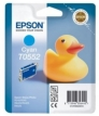 Genuine Epson T0552 Cyan Ink Cartridge (Duckl) for Epson RX425