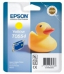 Genuine Epson T0554 Yellow Ink Cartridge (Duck) for Epson R240