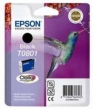 Genuine Epson T0801 Black Ink Cartridge (Hummingbird) for Epson PX650