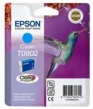 Genuine Epson T0802 Cyan Ink Cartridge (Hummingbird) for Epson PX660