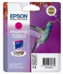 Genuine Epson T0803 Magenta Ink Cartridge (Hummingbird) for Epson PX650