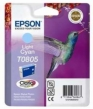Genuine Epson T0805 Light Cyan Ink Cartridge (Hummingbird) for Epson PX650
