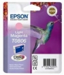 Genuine Epson T0806 Light Magetna Ink Cartridge (Hummingbird) for Epson PX650