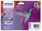 Genuine Epson T0807 Multipack Ink Cartridges (Hummingbird) for Epson PX660