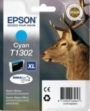 Genuine Epson T1302 Cyan Ink Cartridge (Stag) for Epson SX525WD