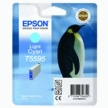 Genuine Epson T5595 Light Cyan Ink Cartridge (Penguin)