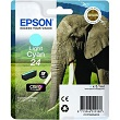 Genuine Epson T2425 Light Cyan Ink Cartridge (Elephant)