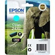 Genuine Epson T2432 Cyan Ink Cartridge 24XL (Elephant)