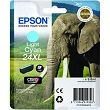 Genuine Epson T2435 Light Cyan Ink Cartridge 24XL (Elephant) for Epson XP-750