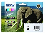Genuine Epson T2438 Multipack Ink Cartridges 24XL (Elephant) for Epson XP-750