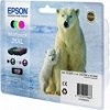 Genuine Epson T2636 Multipack Ink Cartridges 26XL (Polar Bear) for Epson XP-520
