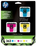 Genuine HP-363 3 Cartridge Set (CB333EE) for HP Photosmart D6163