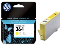Genuine HP-364 Yellow Ink Cartridge (CB320EE)