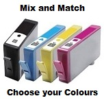 1 x Mix & Match 4 Cartridge Multipack Compatible with HP 364XL (shows ink levels)