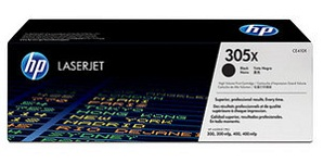 Genuine HP 305X (CE410X) Black High Capacity Toner Cartridges for HP LaserJet Pro 300 Color MFP M375nw