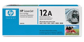 Genuine HP 12A (Q2612A) Black Toner Cartridges for HP Laserjet 3020 All-In-One