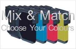 Brother LC123 Compatible Ink Cartridge Mix & Match 4 Pack for Brother DCP-J132W