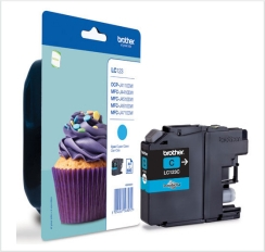 Genuine Brother LC123C Cyan Ink Cartridge for Brother DCP-J752DW