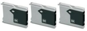 3 x Black Brother LC1000BK Compatible Ink Cartridges for Brother FAX-1560