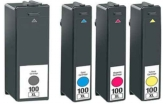 Lexmark 100XL High Capacity Compatible Ink Cartridges - 1 Full Set for Lexmark Interpret S405