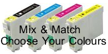 Epson T0711/2/3/4 Compatible Mix & Match 4 Pack for Epson B40W
