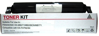 Panasonic KX-FAT94 Cartridge Compatible with Black Toner Cartridges for Panasonic KX-MB271