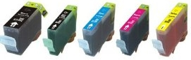 Canon PGI-525BK and CLI-526BK, CLI-526C, CLI-526M, CLI-526Y Multipack Set Compatible Ink Cartridges for Canon MG6150