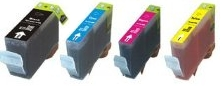 Canon PGI-5BK and CLI-8C, CLI-8M, CLI-8Y Multipack Set Compatible Ink Cartridges